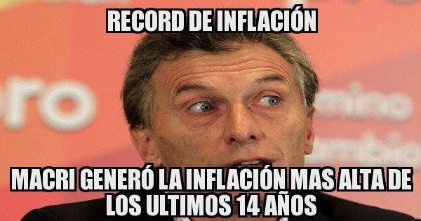 Resultado de imagen para macri y la inflacion