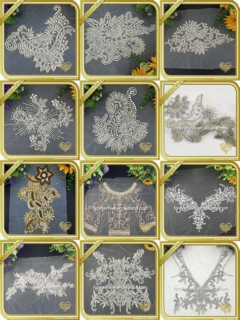 Bling Crystal Hand Embroidery Designs Bridal Handwork