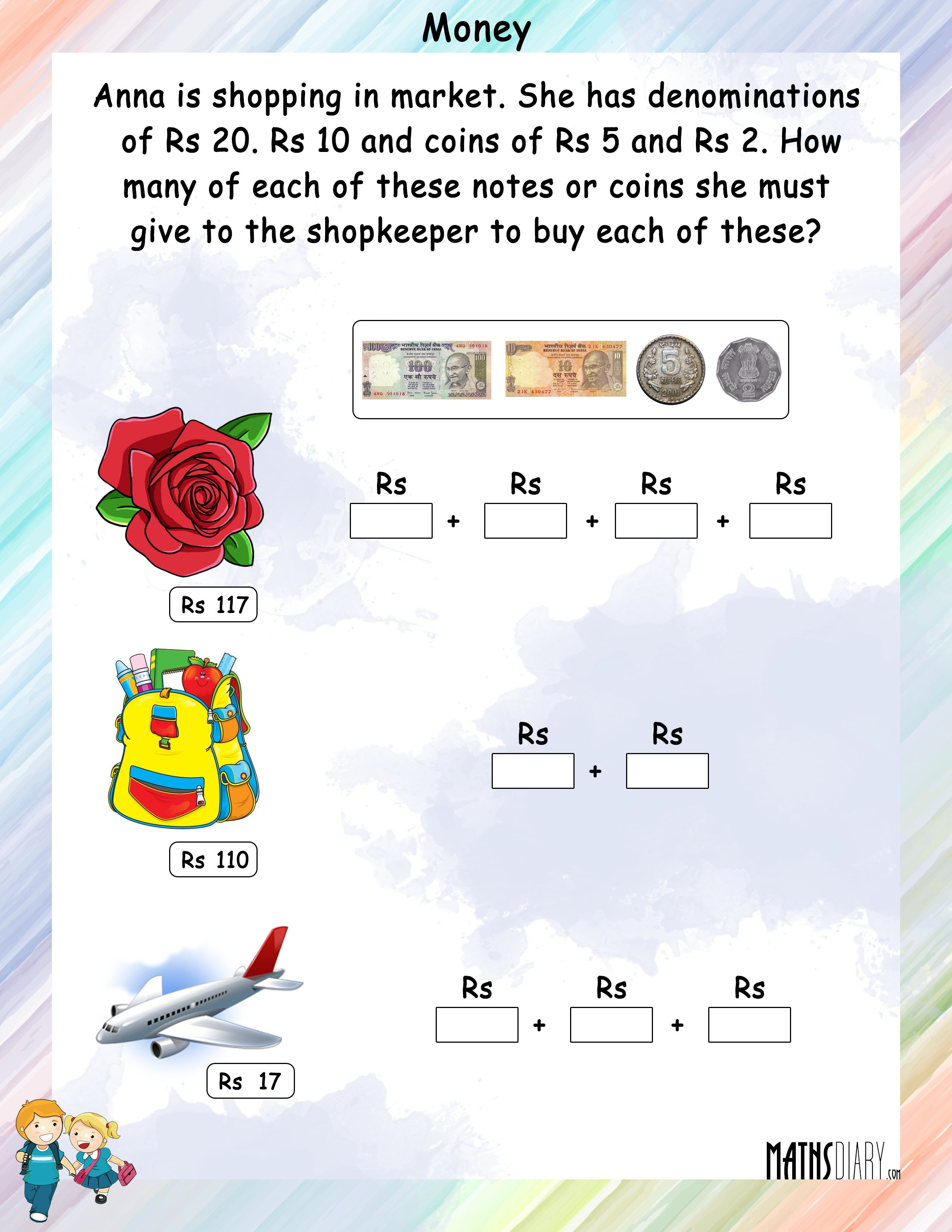 Money worksheet 8