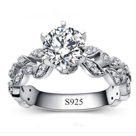Fashion Silver Rings for women White Gold Plated Jewelry