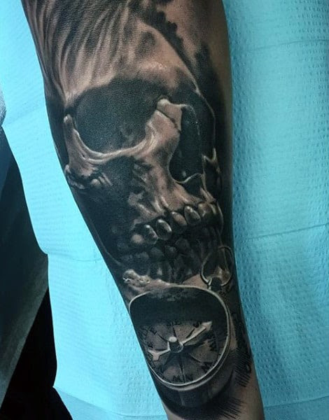 50 Skull Sleeve Tattoos For Men Masculine Design Ideas