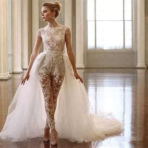 Ines Di Santo Lace Jumpsuit Wedding Dresses With