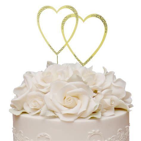 Sparkle ~ Swarovski Crystal Wedding Cake Topper ~ Double