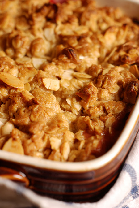 rhubarb and pear crumble© by Haalo