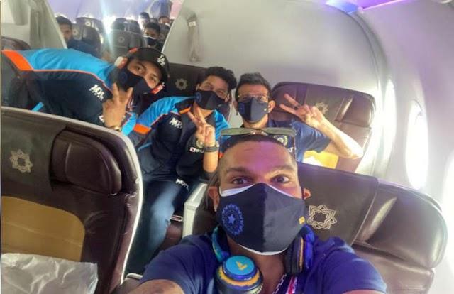 शिखर धवन की कप्तानी वाली टीम इंडिया श्रीलंका के लिए रवाना