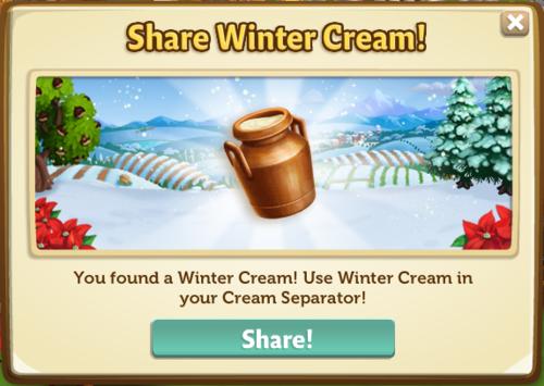Winter Cream Separator - FarmVille 2