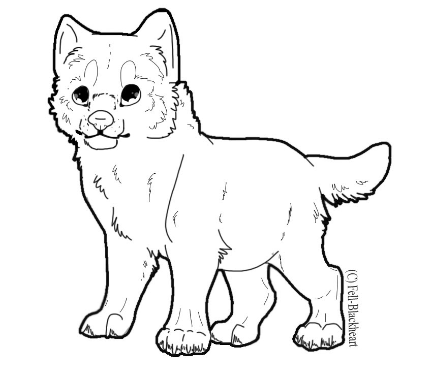 Wolf Cub Drawing at GetDrawings | Free download