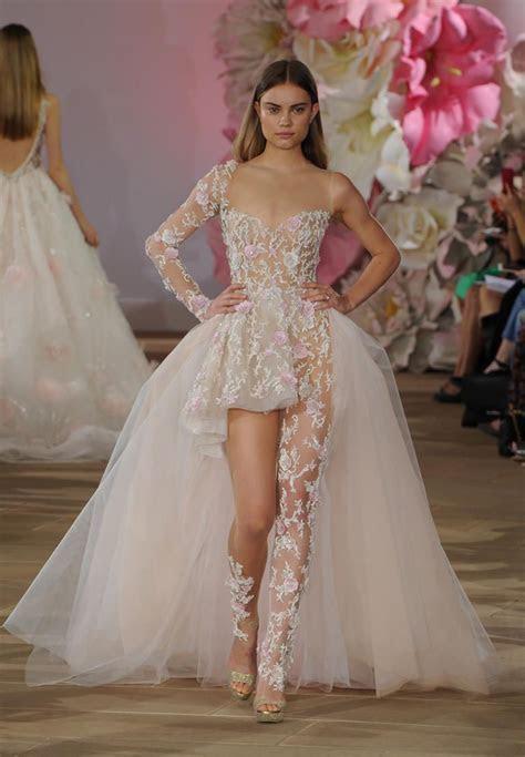 Ines Di Santo's Stunning, Sheer Wedding Dresses for Spring
