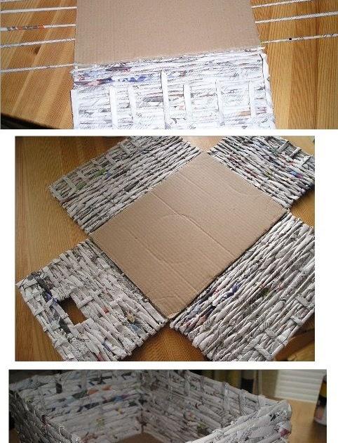 Reciclar reutilizar y reducir cesta de mimbre hecha - Reciclar cestas de mimbre ...