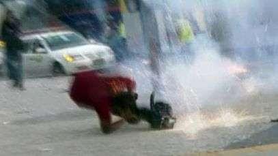Vídeo mostra socorro a cinegrafista da rede Bandeirantes ferido em protesto