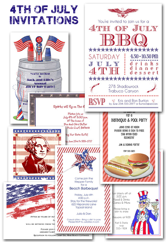 4th Of July Party Planning And Invitations The Invitation Shop