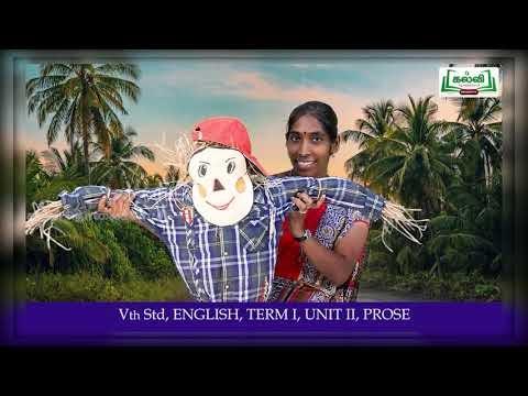5th English Trip to My Grand Parents Village Prose Term 1 Unit 2 Kalvi TV