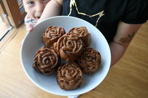 Rose Chocolate muffins 1