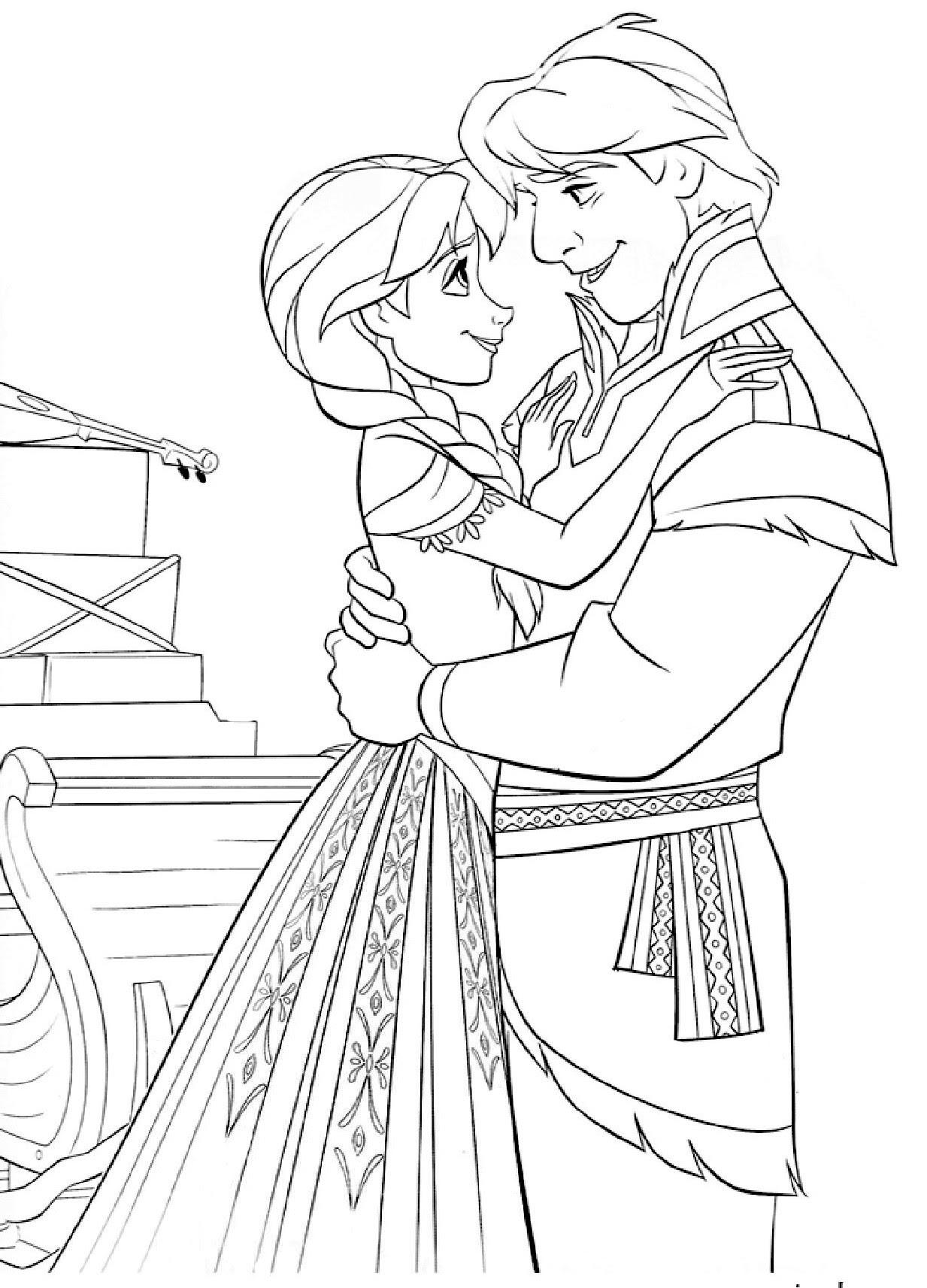 Dibujos Para Colorear De Elsa Y Anna Para Imprimir