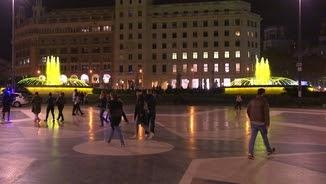 Fonts grogues a la Plaça Catalunya de Barcelona