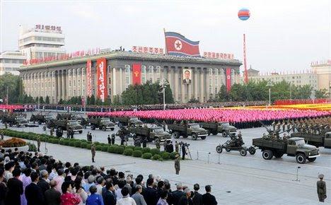 north korean army parade. North Korean soldiers and