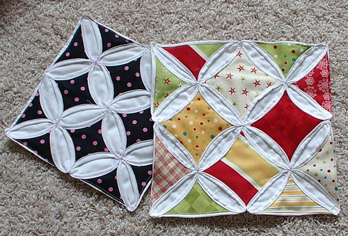 cathedral windows quilt  tutorial