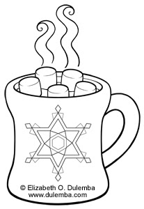 Dulemba coloring page tuesdays hot chocolate for Hot chocolate coloring page