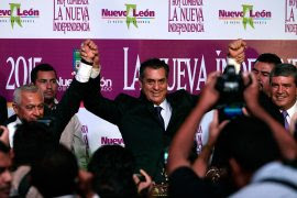 """La toma de protesta de Jaime Rodríguez """"El Bronco"""" como gobernador de Nuevo León. Foto: Víctor Hugo Valdivia"""