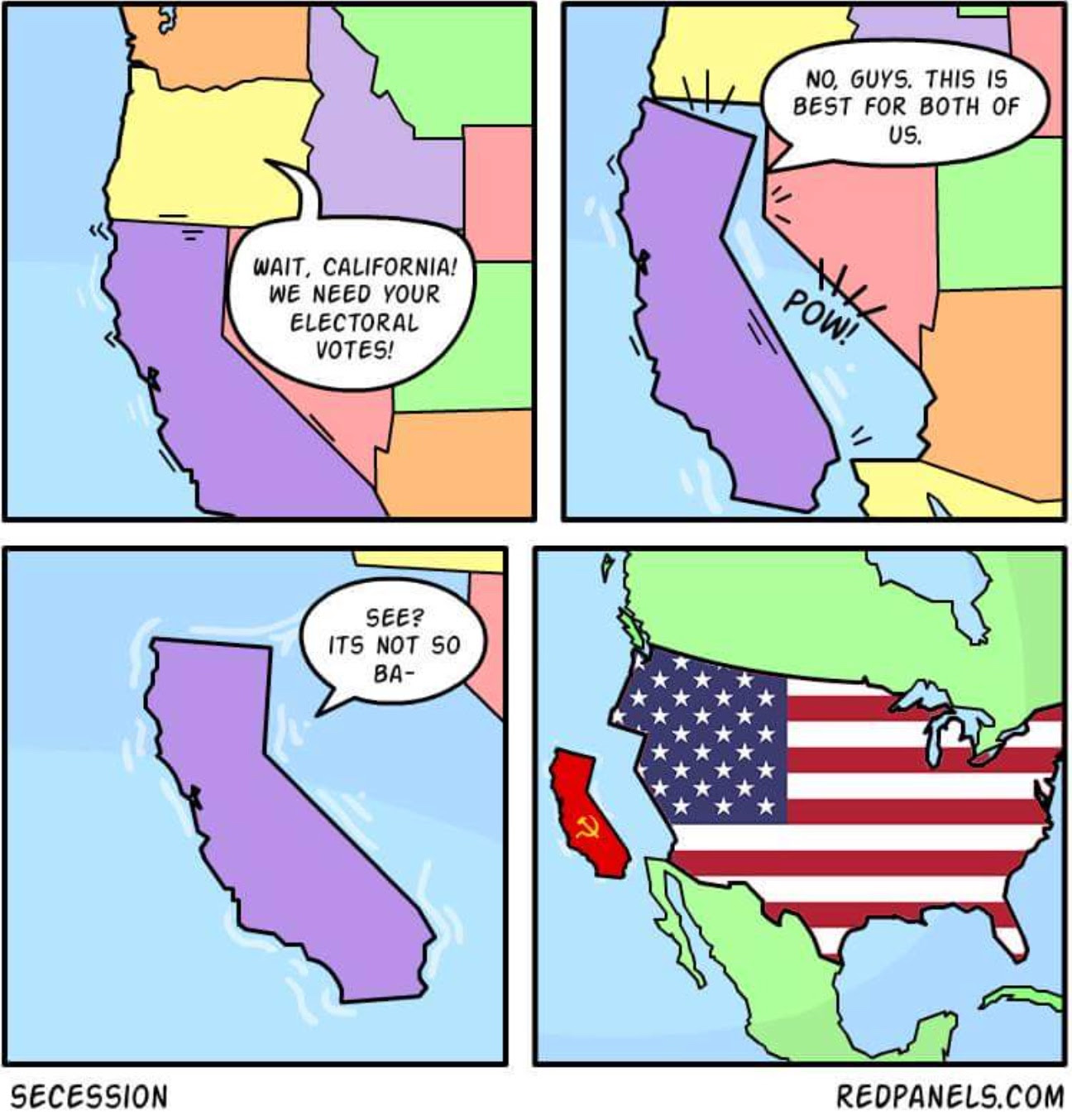 Image result for california secession cartoons