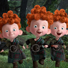 "The Triplets of Disney·Pixar's ""Brave""."
