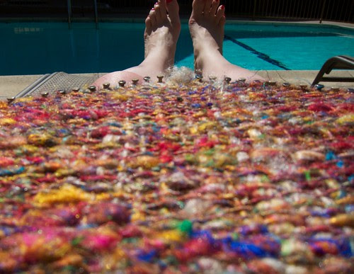 Weaving by the Pool