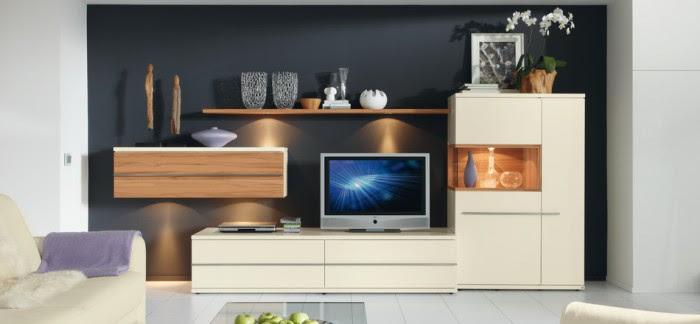 modern living room navy