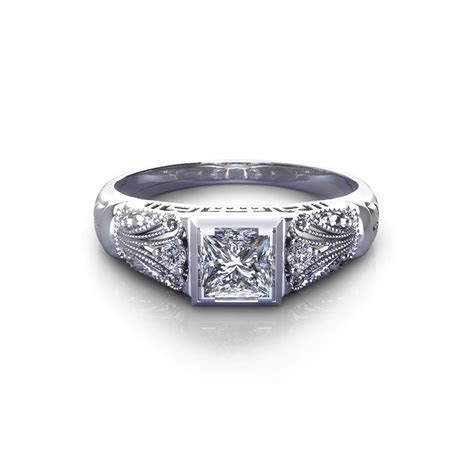 Vintage Princess Engagement Ring   Jewelry Designs