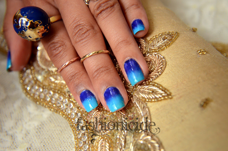blueombrenails