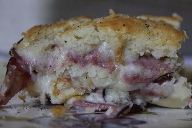 Roast Beef and Swiss Sandwich Bake