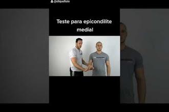 Teste para epicondilite medial – cotovelo de golfista