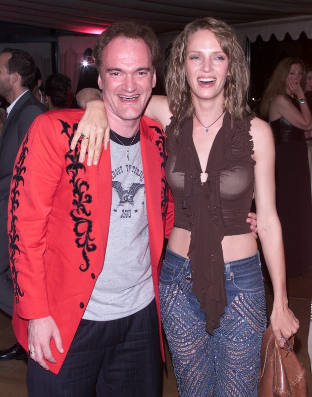 Uma Thurman and Quentin Tarantino at the 'Chelsea Walls' party at the 54th Cannes Film Festival in Cannes, France, 5/11/01. Photo by Dave Hogan/MP/Getty Images
