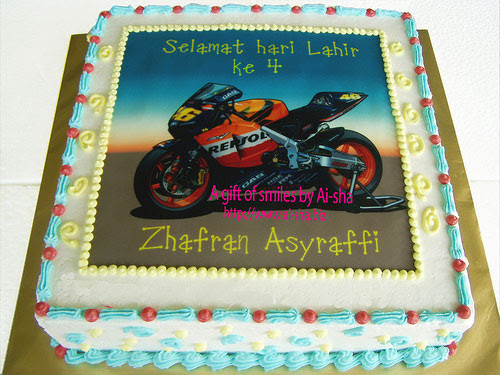 Birthday Cake Edible Image Superbike