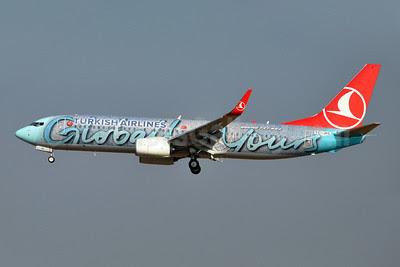 Turkish Airlines Boeing 737-8F2 WL TC-JHL (msn 40976) (Globally Yours) BRU (Karl Cornil). Image: 908090.