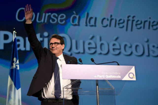 Pierre Karl Péladeau a quitté la tête du... (Photo Jacques Boissinot, archives La Presse Canadienne)