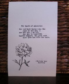 Red Hair Poem Redhead Gifts Love Poem The Spark of Adoration Poem Old ...