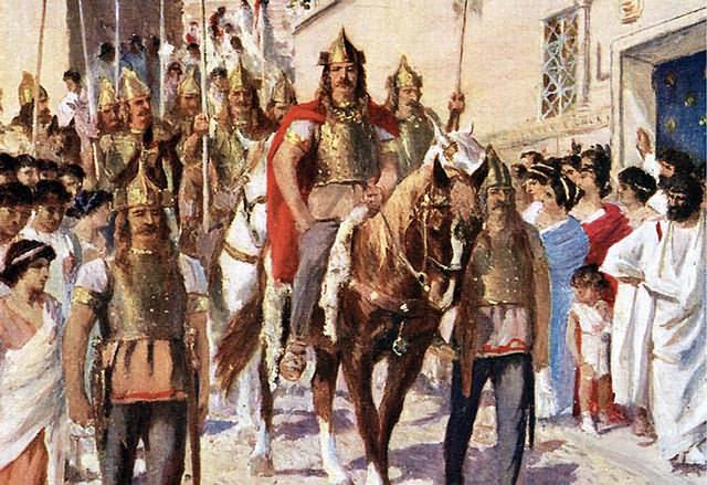 Alarico I, rey de los visigodos entre 395 y 410, perteneciente a la dinastía baltinga, hijo (o nieto paterno) del caudillo visigodo Rocesthes.
