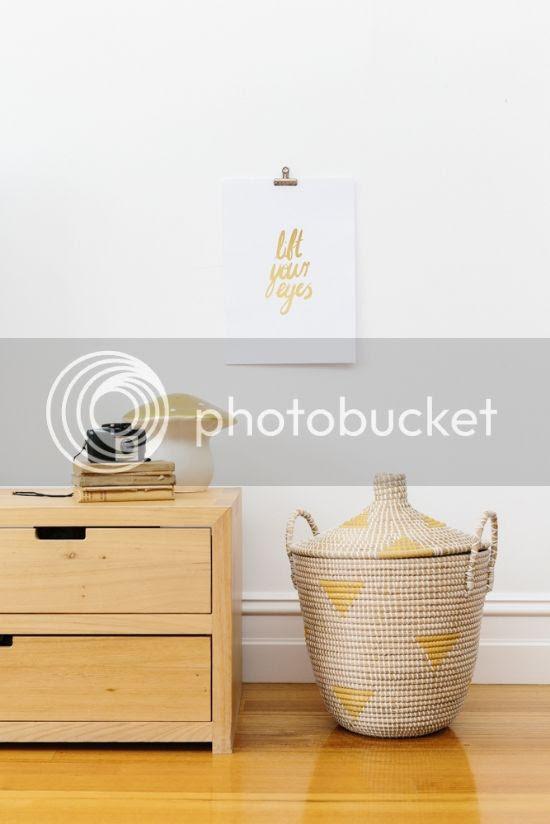 Lift Your Eyes | Honey & Gold Christian foil wall art