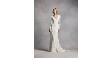 white  vera wang long sleeve lace wedding dress