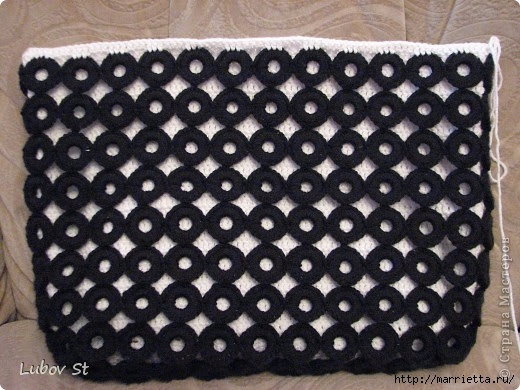 Handbag of the rings with beads.  Crochet without interrupting the thread (20) (520x390, 161Kb)