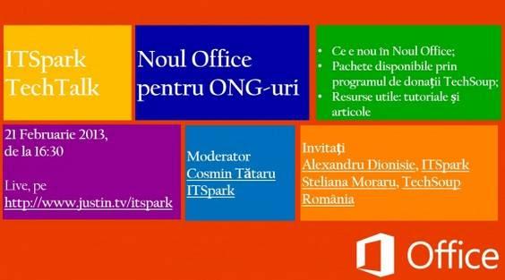 Noul Office webinar ITSpark TechSoup Romania