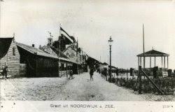 De Noord Boulevard met de waranda van Badhotel Konijnenburg