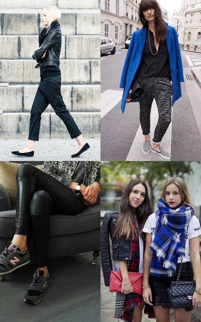 Pinterest fall winter fashion inspiration black blue leather loafers slip on check plaid tartan zara new balance sneakers outfits blogger turn it inside out belgium