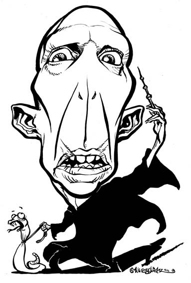Ralph Fiennes Voldemort Karikatur Caricature