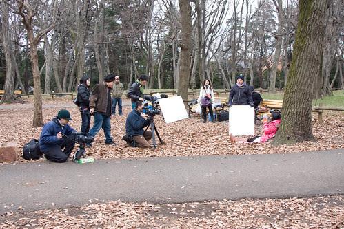 [kingyo] Shooting a scene at Inokashira Park