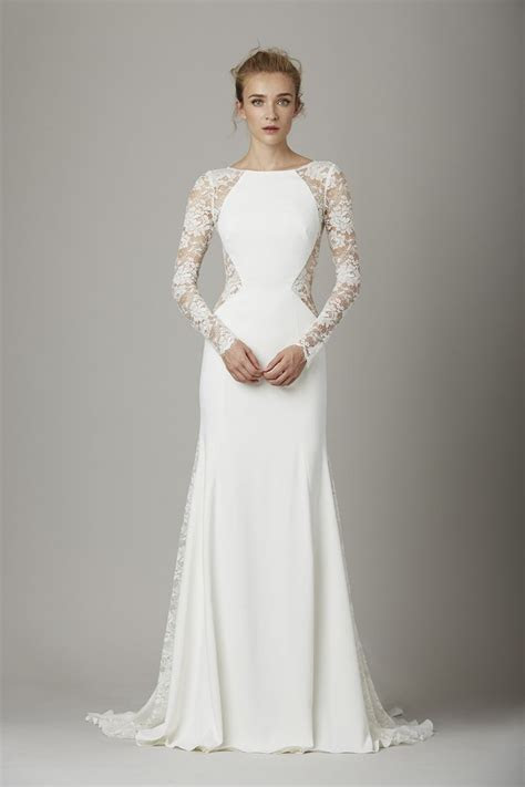 ideas  long sleeve gown  pinterest lace