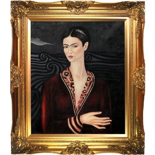 Oil Painting Overstockart Frida Self Portrait In A Velvet