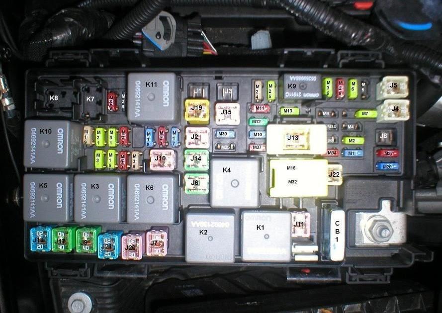 2007 Jeep Wrangler Fuse Box Layout
