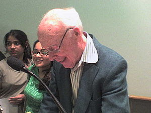James D. Watson signing autographs at Cold Spr...