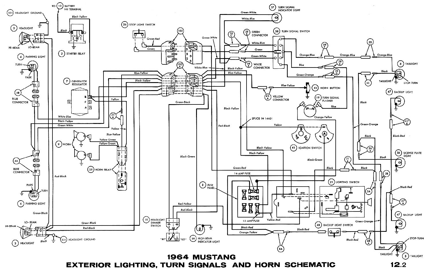 1964 1 2 Ford Mustang Wiring Diagram Wiring Diagram Frankmotors Es